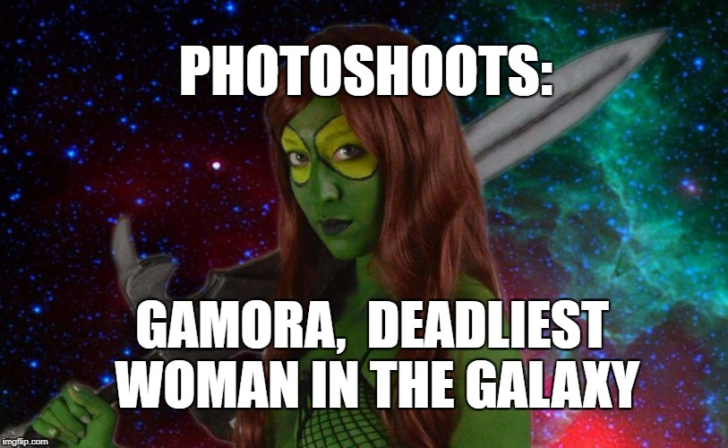Photoshoots: Gamora, Deadliset woman in The galaxy